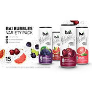 Bai Bubbles Sparkling Antioxidant Infused  Beverage Variety Pack, 15 ct./11.5 fl. oz.