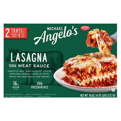 Michael Angelo's Lasagna with Meat Sauce, 2 ct./28 oz.