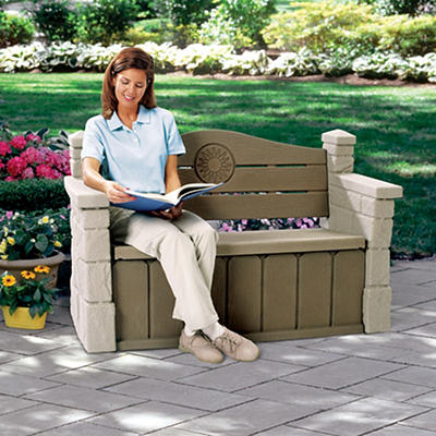 Step2 Outdoor Storage Bench - Brown