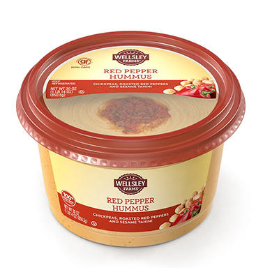 Wellsley Farms Signature Red Pepper Hummus, 30 oz.