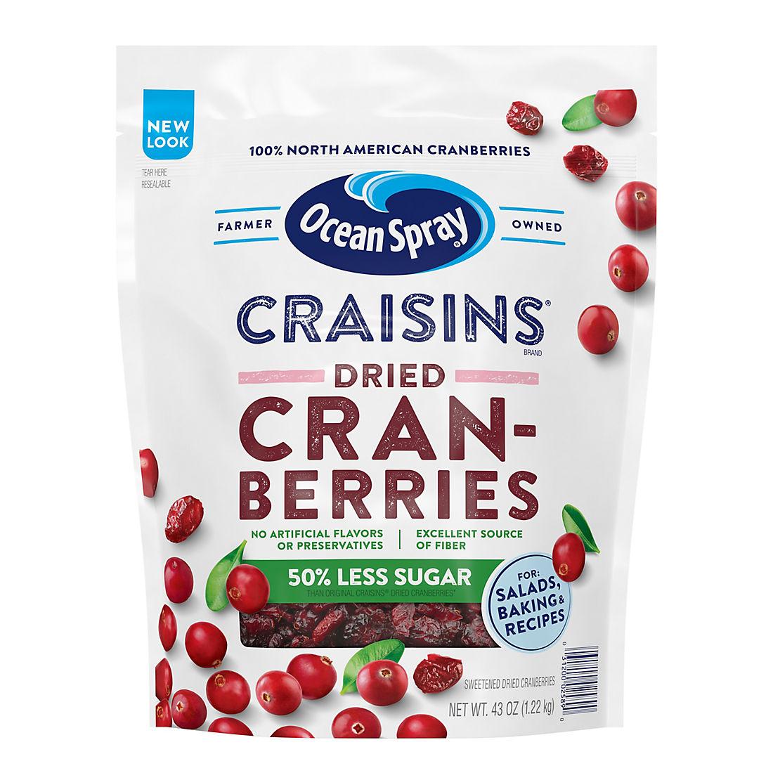 Reduced Sugar Craisins, 43 oz