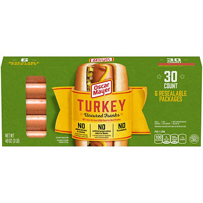 Oscar Mayer Turkey Franks, 3 lbs.