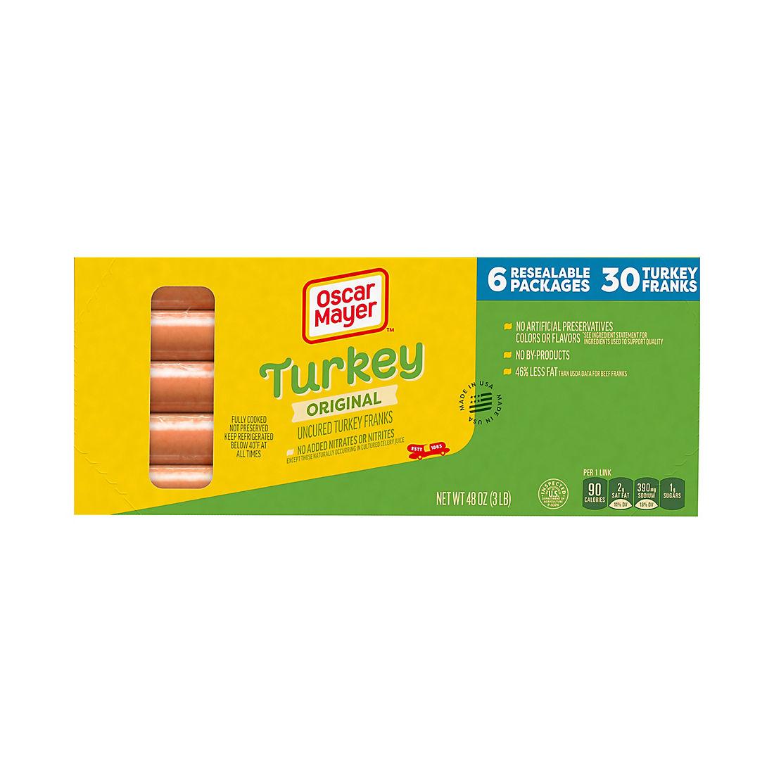 Oscar Mayer Turkey Franks, 3 lbs. - BJs