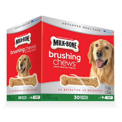 Milk-Bone Brushing Chews Daily Dental Treats, 30 ct.