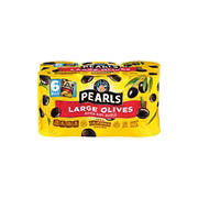 Musco Black Pearl Large Pitted Olives, 6 ct./6 oz.