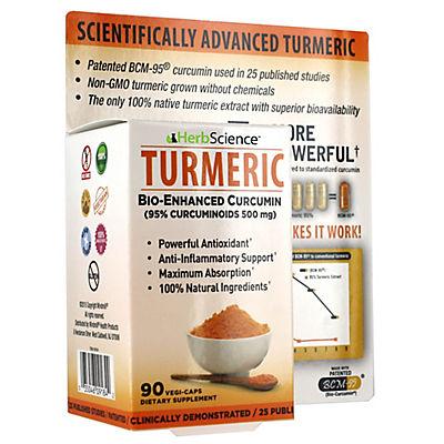 Herb Science Tumeric Dietary Supplement, 90 ct.