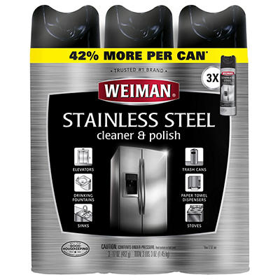 Weiman Stainless Steel Cleaner, 3 pk./17 oz.