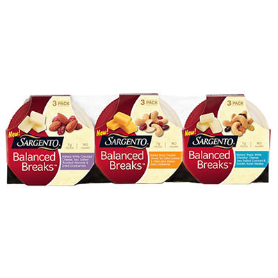 Sargento Balanced Breaks Snack Trays, 9 ct.
