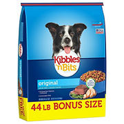 Kibbles 'n Bits Original Savory Beef & Chicken Flavor Dry Dog Food, 44 lb.