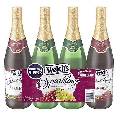 Welch's Sparkling Grape Juice, 4 pk./25.4 oz.