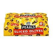 Pearls Sliced California Ripe Olives, 6 pk./3.8 oz.