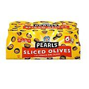 Pearls Sliced California Ripe Olives, 6 pk./3.8 oz.