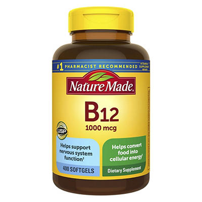 Nature Made Vitamin B12 1,000mcg Softgels, 400 ct.