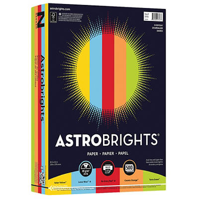 "Astrobrights 24-lb. Colored Paper, Letter, 500 ct. - ""Everyday"" Assort"