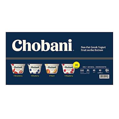 Chobani Greek Yogurt Berry Variety Pack, 16 ct./5.3 oz.