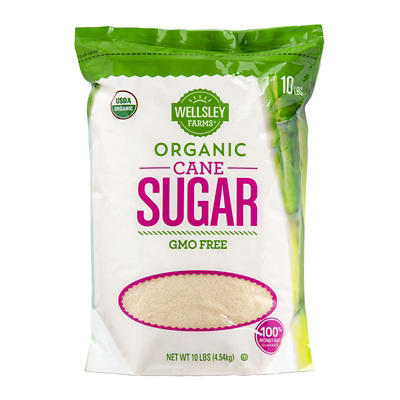 Wellsley Farms Organic Cane Sugar, 10 lbs.