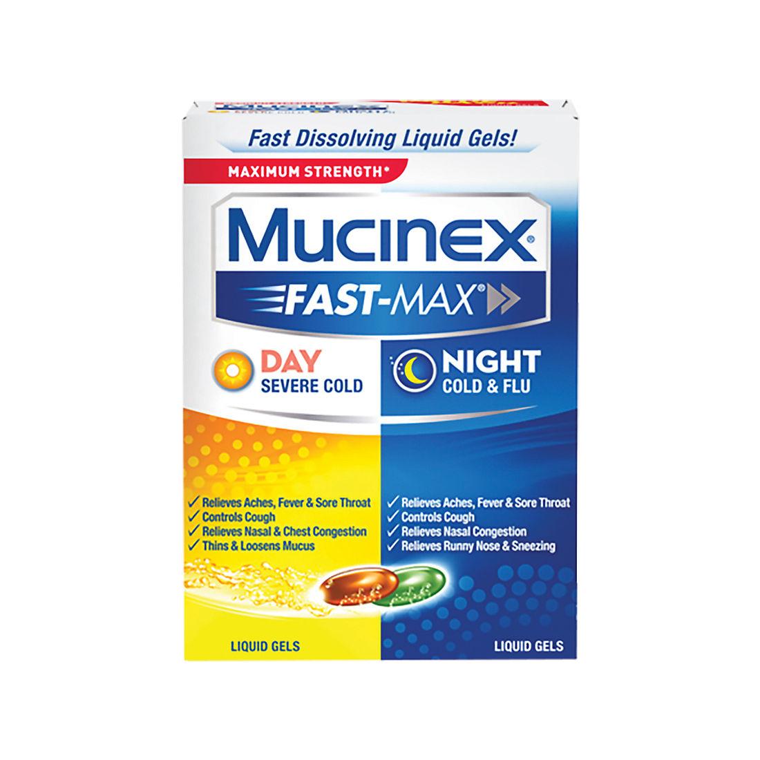 Mucinex Fast Max Adult Day And Night Liquid Gel Caplets 48 Ct