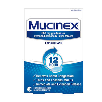 Mucinex 12-Hour Chest Congestion Expectorant Tablets, 600 mg, 100 ct.