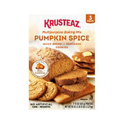 Krusteaz Pumpkin Spice Baking Mix, 3 pk.