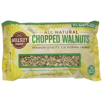 Wellsley Farms Chopped Walnuts, 3 lbs.