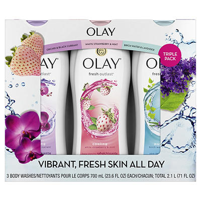 Olay Fresh Outlast Body Wash, 3 pk./23.6 oz.