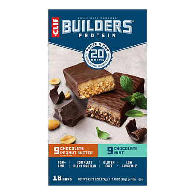 Clif Builder's Protein Bar Variety Pack, 18 ct./2.40 oz.