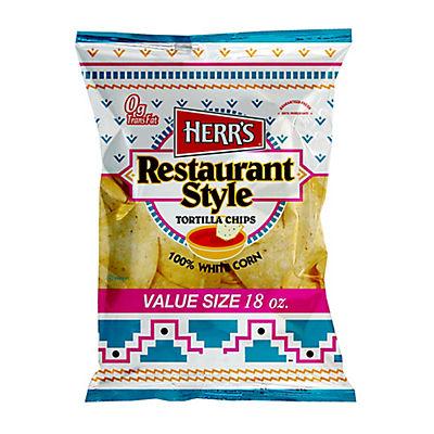 HERR'S Restaurant Style Tortilla Chips, 18 oz.