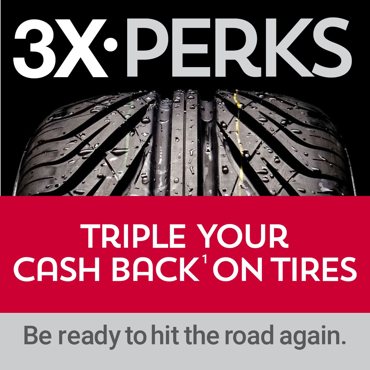 Triple Your Cash Back on Tires