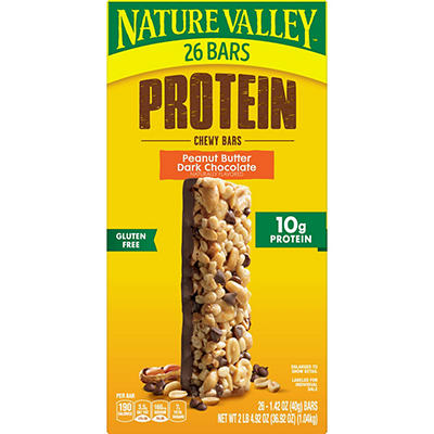 Nature Valley Peanut Butter Chocolate Protein Chewy Bars, 26 ct.