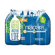 Niagara Purified Drinking Water, 1 gal./6 pk.
