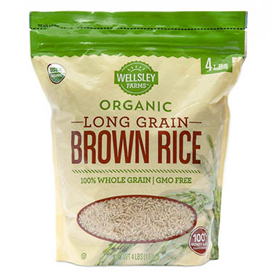 Wellsley Farms Organic Long-Grain Brown Rice, 4 lbs.