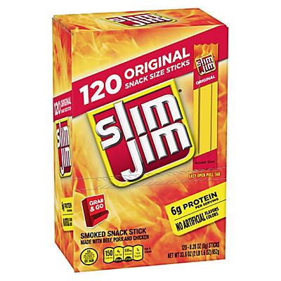 Slim Jim Smoked Snack Sticks, 120 ct./0.28 oz.