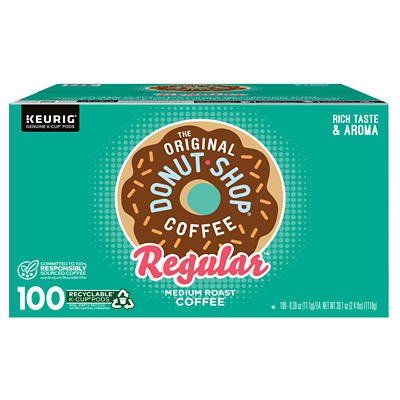 The Original Donut Shop Regular Medium Roast Coffee Keurig Single-Serve K-Cup Pods, 100 ct.