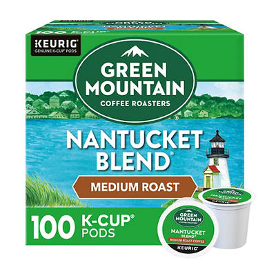 Green Mountain Coffee Roasters Nantucket Blend, Keurig K-Cup Pods, Medium Roast Coffee, 100 Count