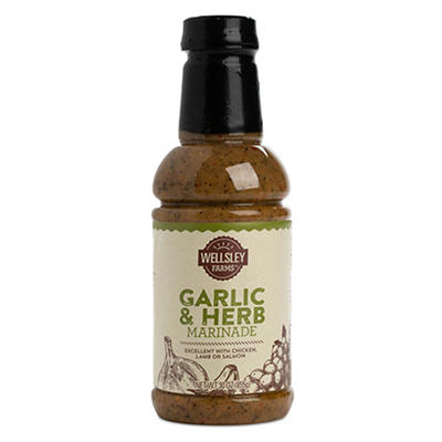 Wellsley Farms Garlic and Herb Marinade, 30 oz.