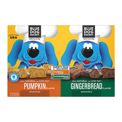 Blue Dog Bakery Pumpkin and Gingerbread Dog Treats, 4 pk./20 oz.