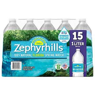 Zephyrhills 100% Natural Spring Water, 15 pk./1L