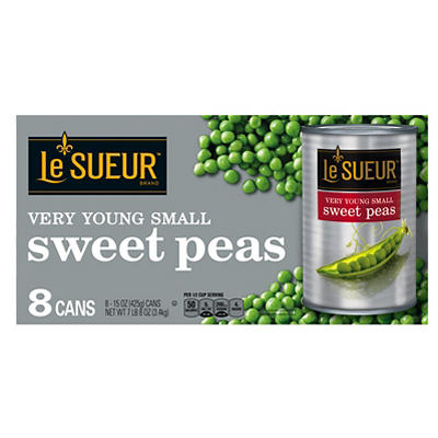 Le Sueur Very Young Small Sweet Peas, 8 pk./15 oz.