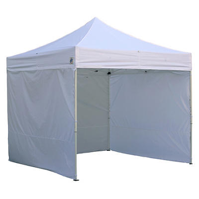 E-Z UP 10' x 10' Instant Shelter with Full Wall Enclosure - White