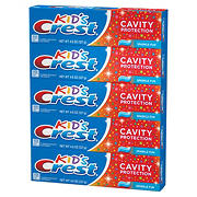 Crest Kids Cavity Protection Sparkle Fun Flavor Toothpaste, 5 ct./4.5 oz.