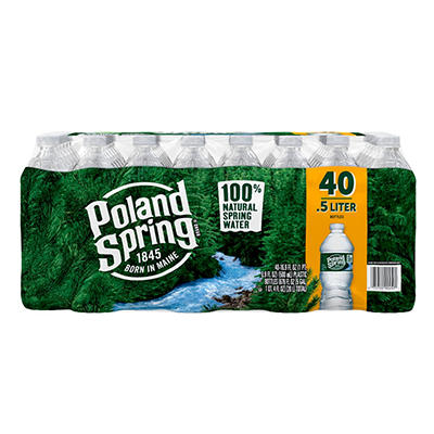 Poland Spring Natural Spring Water, 40 pk./16.9 oz.