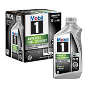 Mobil 1 Advanced Fuel Economy Full Synthetic Motor Oil 0W-20, 6 pk./1 qt.