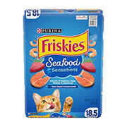 Purina Friskies Seafood Sensations Dry Cat Food, 18.5 lbs.