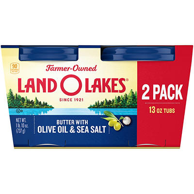 Land O'Lakes Butter with Olive Oil & Sea Salt, 2 pk./13 oz.