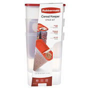 Rubbermaid Cereal Keeper, 3 pk.