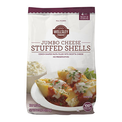 Wellsley Farms Signature Collection Jumbo Cheese Stuffed Shells, 4 lbs