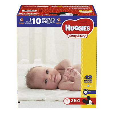 Huggies Snug & Dry Size 1 Diapers, 264 ct.
