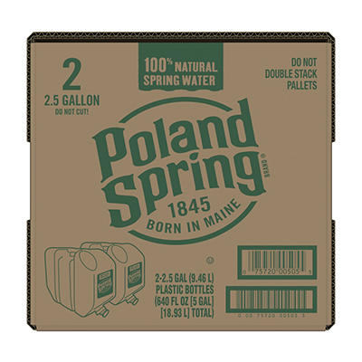 Poland Spring 100% Natural Spring Water, 2 pk./2.5 gal.
