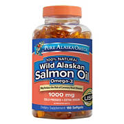 Pure Alaska Omega Wild Salmon Oil, 1000mg, 180 ct.
