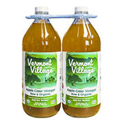 Vermont Village Raw Organic Apple Cider Vinegar, 2 pk./32 oz.